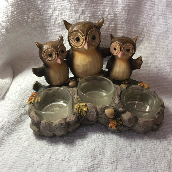 Yankee Candle triple owl tealight candleholder from 2012